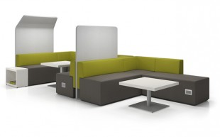 Collaborative Workspace – With privacy divider (Collaborative Spaces CDC-003)